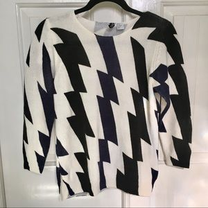 H&M Divided Women's Lightning Pattern Sweater